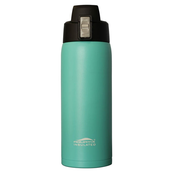 Turquoise 21 oz Powder Coated Thermal Double Insulated Vacuum Sealed Sports Bottle Flip Top