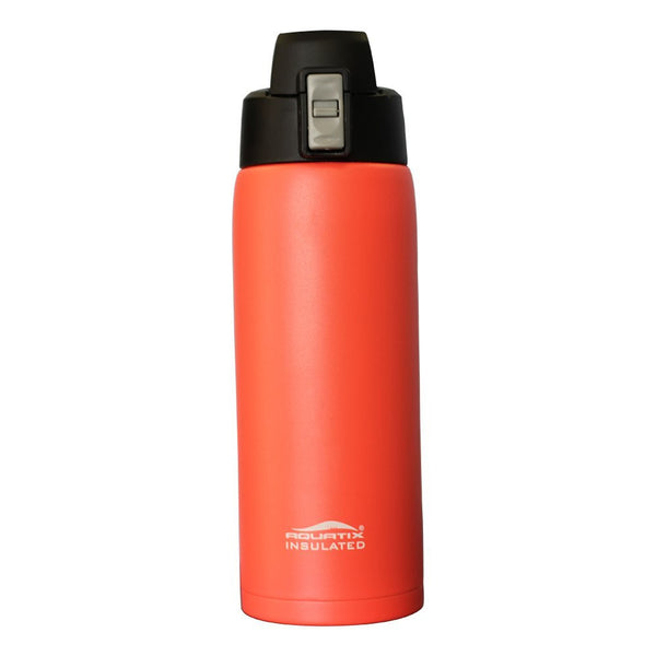 Sunset Orange 21 oz Powder Coated Thermal Double Insulated Vacuum Sealed Sports Bottle Flip Top