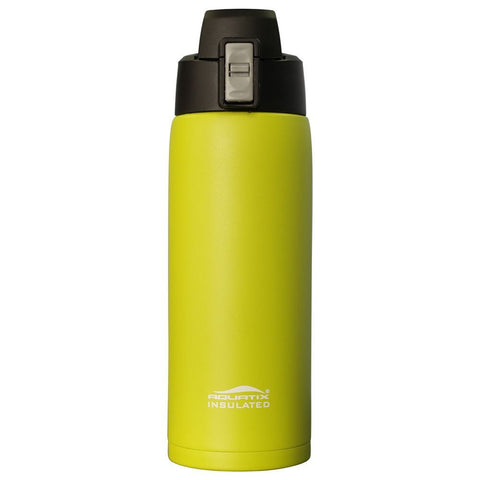 Lime 21 oz Powder Coated Thermal Double Insulated Vacuum Sealed Sports Bottle Flip Top