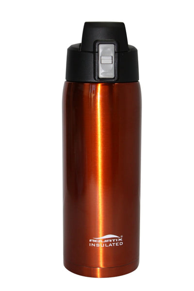 Burnt Orange 32 oz Thermal Double Insulated Vacuum Sealed Sports Bottle Flip Top