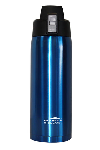 Blue 21 oz Thermal Double Insulated Vacuum Sealed Sports Bottle Flip Top