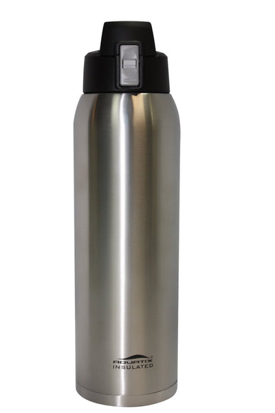 Pure Stainless Steel 32 oz Thermal Double Insulated Vacuum Sealed Sports Bottle Flip Top