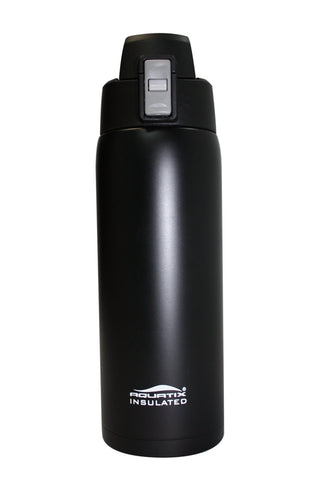 Onyx Black 21 oz Thermal Double Insulated Vacuum Sealed Sports Bottle Flip Top