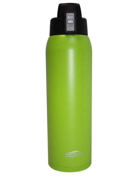 Lime Green 32 oz Thermal Double Insulated Vacuum Sealed Sports Bottle Flip Top