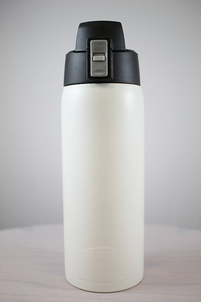 Arctic White 21 oz Powder Coated Thermal Double Insulated Vacuum Sealed Sports Bottle Flip Top