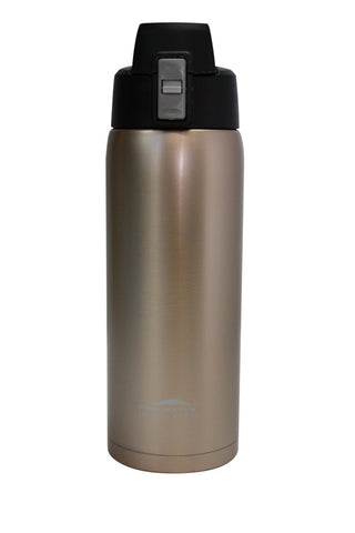 Glittering Gold 21 oz Thermal Double Insulated Vacuum Sealed Sports Bottle Flip Top