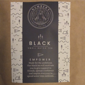 """black small batch tea"" paper bag"