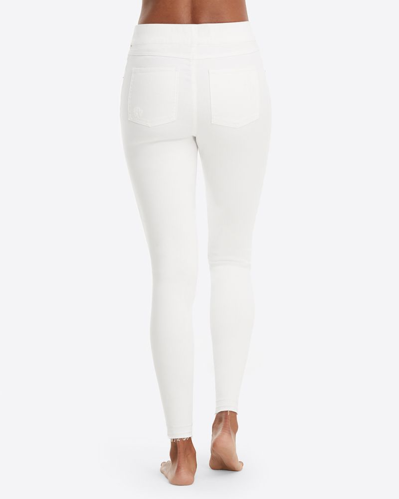 20229R White Distressed Skinny Jeans