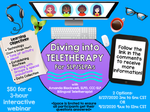 Recording: Diving into Teletherapy: 3-hour Interactive Workshop for Individual SLPs