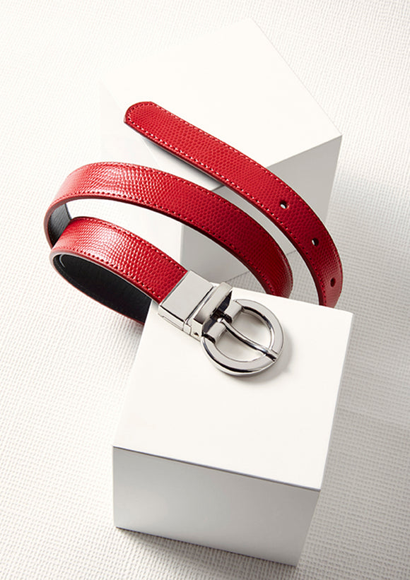 Womens Leather Reversible Belt