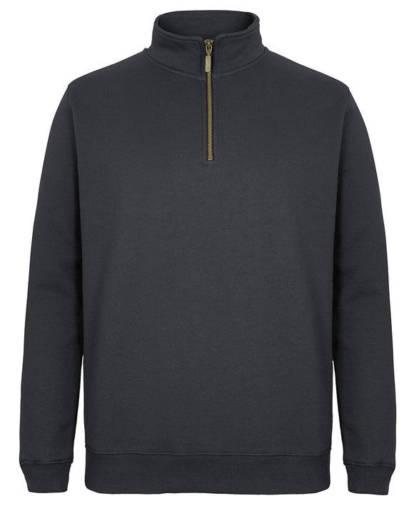 C OF C  1/2 ZIP SWEAT BRASS