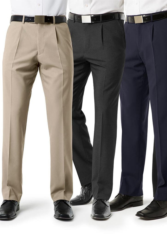 Mens Classic Pleat Front Tailored Pant