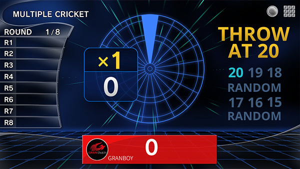 How to Play Multiple Cricket dart game. GranBoard