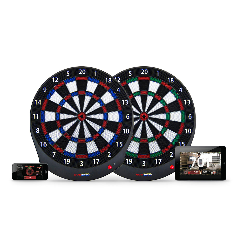 granboard dash electronic dartboard available in 2 colors. dash