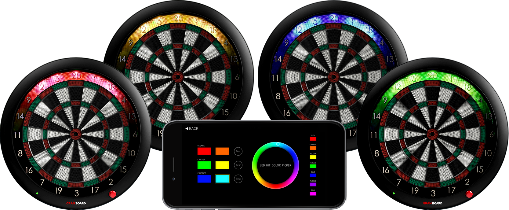 granboard 3s is a premium soft tip electronic dartboard with online play