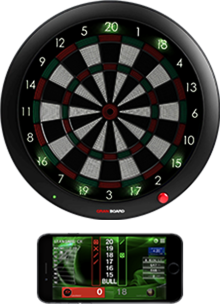 granboard 3s is the premium home soft tip dartboard with led lighting