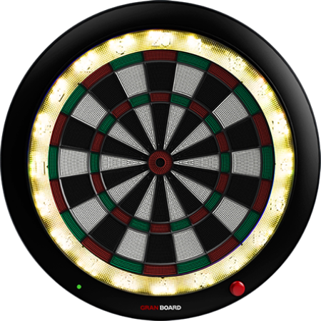 granboard 3s is the premium electronic soft tip dartboard with led lighting