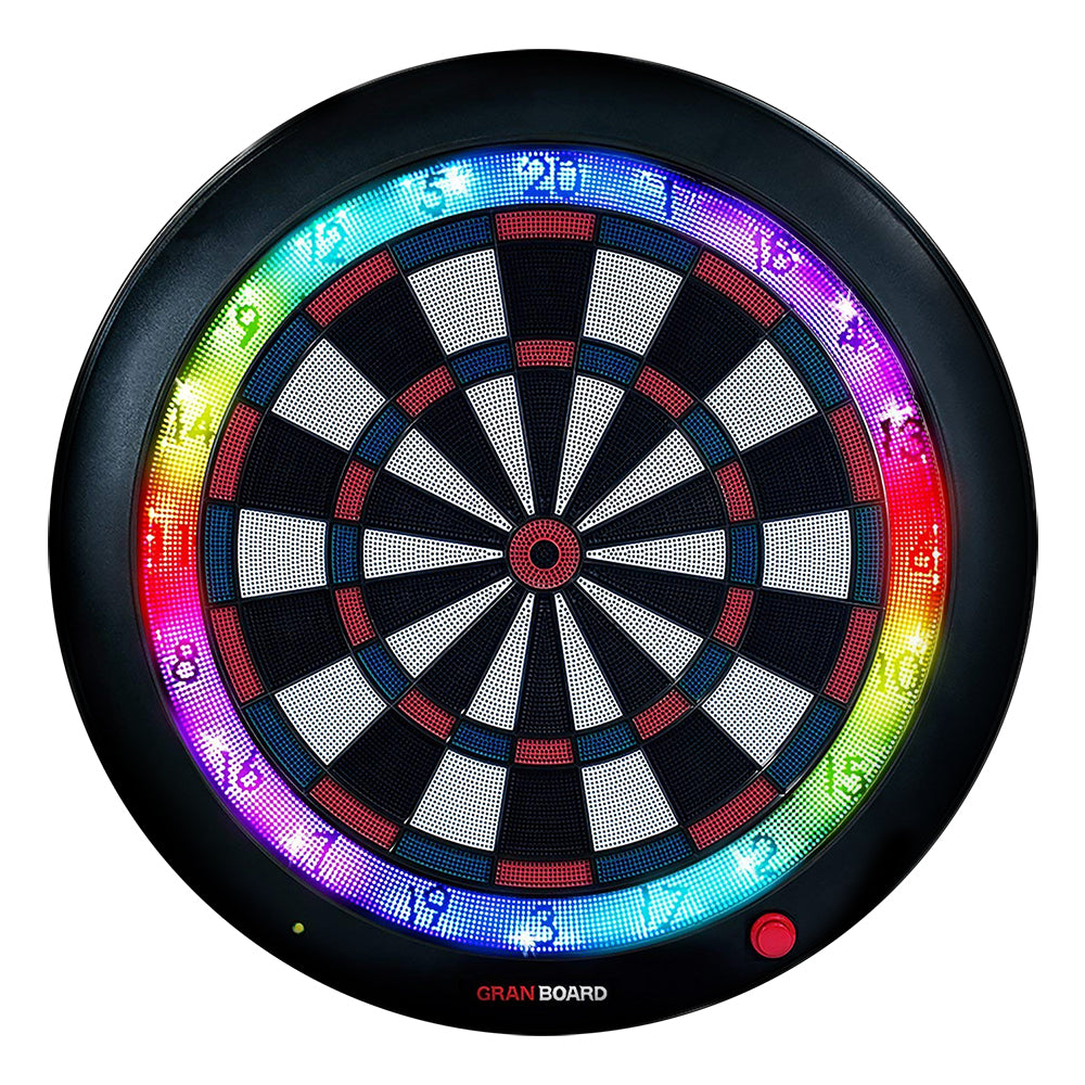 Granboard 3s soft tip electronic dartboard that connect to any smartphone for home and online play. available in blue colorway
