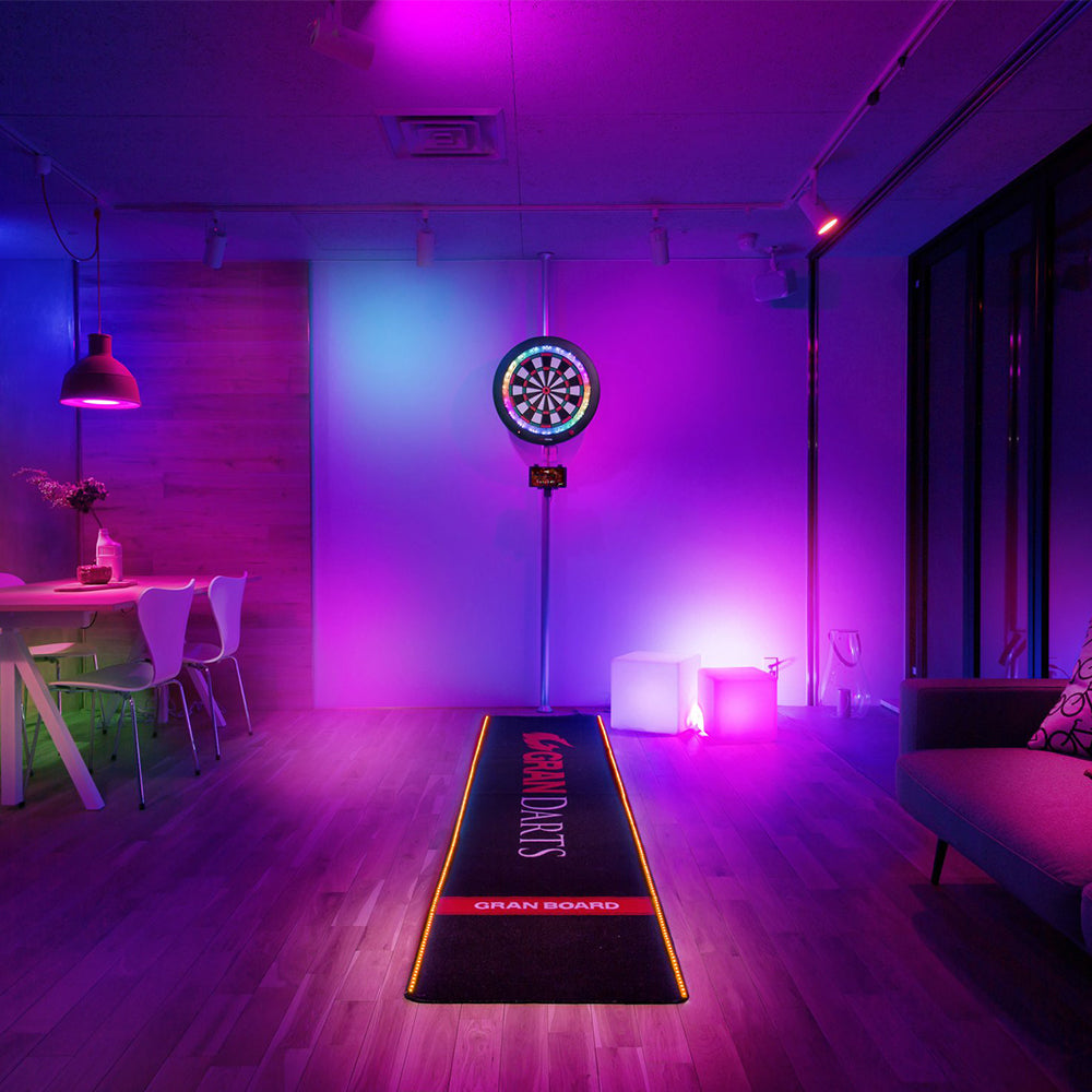 Granboard 3s soft tip electronic dartboard that links to smartphone for online play. グランボード3s