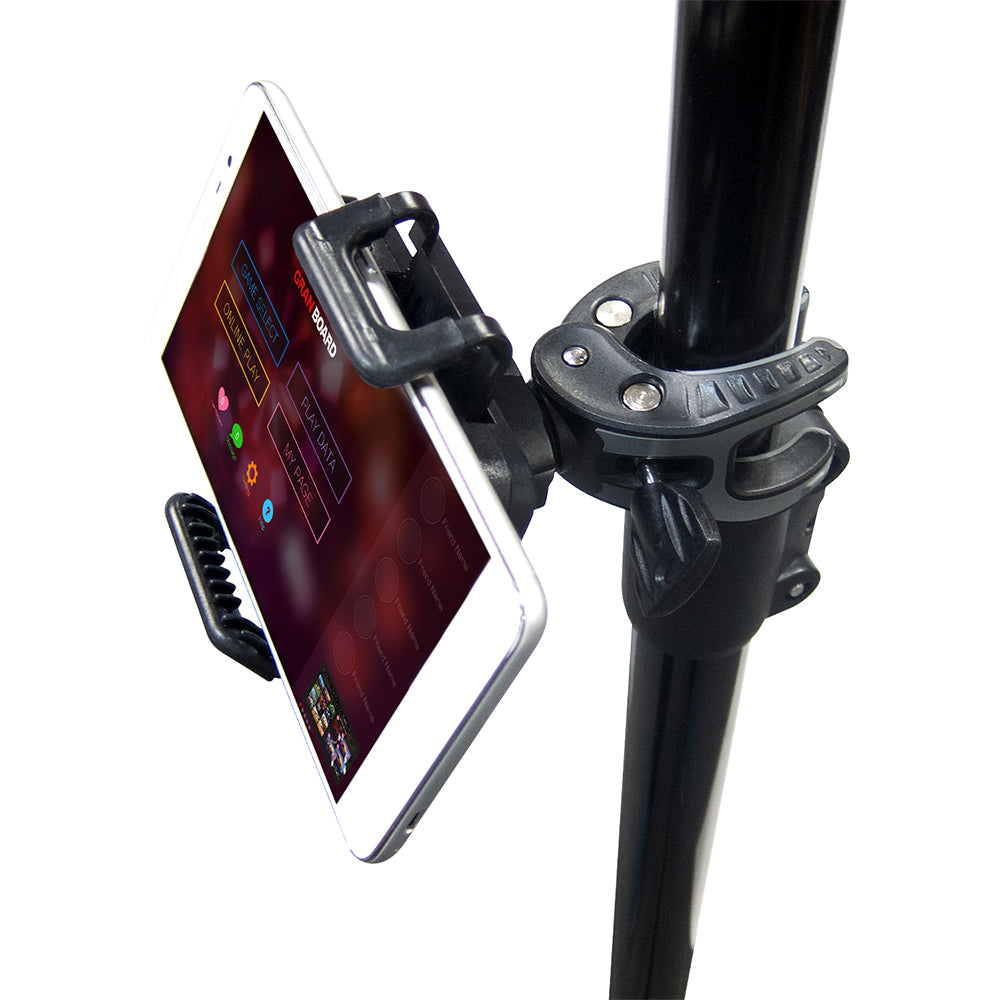 Our tripod dart stand is compatible with our holder for your smartphone or tablet. ダーツボードの三脚