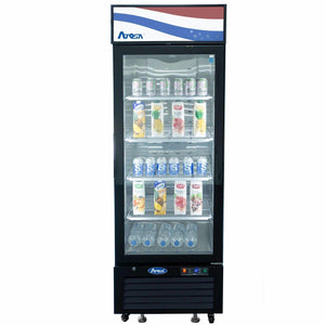 Atosa USA MCF8725GR Glass 1-Door Merchandiser Cooler 11.1 cu. ft.