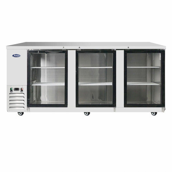 Atosa USA MBB90G 90 inch Glass Door Back Bar Cooler
