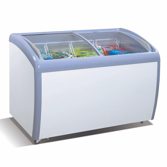 Atosa USA MMF9109 Angled Curve Top Ice Cream Freezer - 9 Cubic Feet