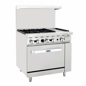 Atosa USA ATO-4B12G Four Burner 12-Inch Griddle Natural Gas Range