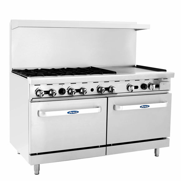 Atosa USA ATO-6B24G Six Burner 24-Inch Griddle Natural Gas Range