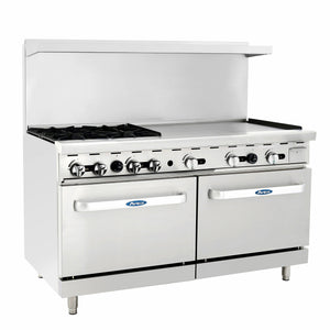 Atosa USA AGR-4B36GR Four Burner 36-Inch Griddle Natural Gas Range