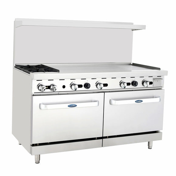 Atosa USA ATO-2B48G Two Burner 48-Inch Griddle Natural Gas Range