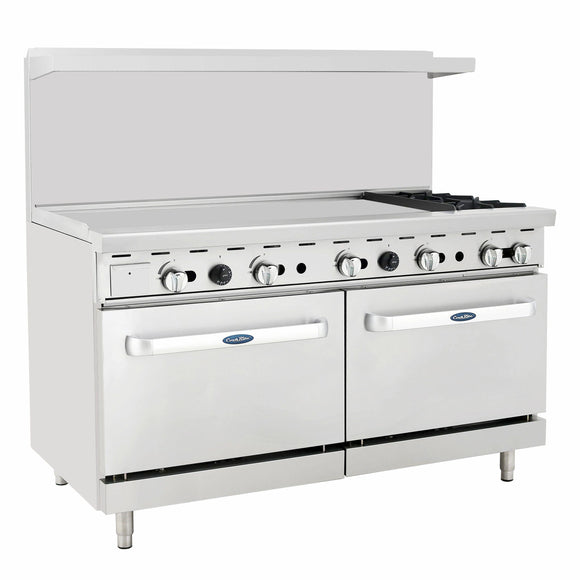Atosa USA ATO-48G2B Two Burner 48-Inch Griddle Natural Gas Range