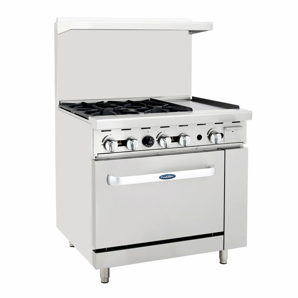Atosa USA ATO-4B12G Four Burner 12-Inch Griddle Propane Gas Range