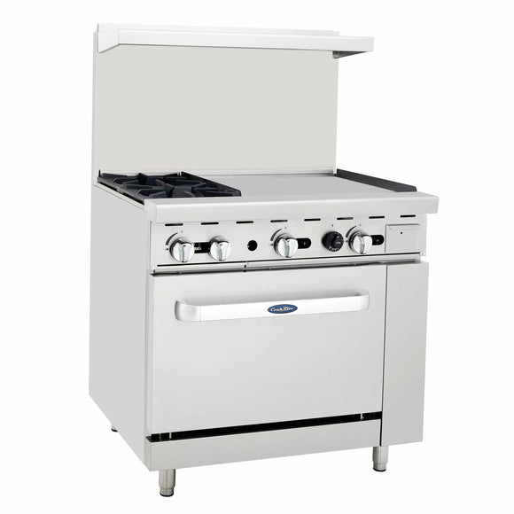 Atosa USA ATO-2B24G Two Burner 24-Inch Griddle Propane Gas Range