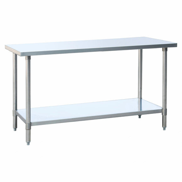 Atosa USA SSTW-2472 NSF Rated 430 Stainless Steel Work Table - 24 Inches x 72 Inches