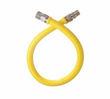 "Dormont 1675NPFS48 Yellow Gas Hose 3-4"" Diameter 48 Inches"