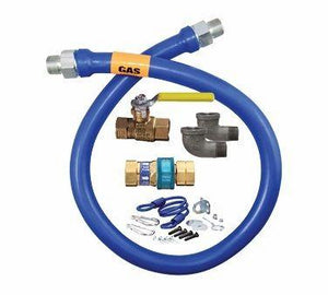 "Dormont 1675KIT48 Blue Gas Hose Connector Kit 3-4"" Diameter 48 Inches"
