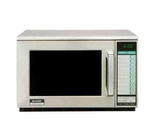 Sharp R-25JTF Commercial Microwave - 2100 Watts