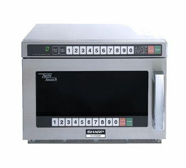 Sharp R-CD1800 Twin Touch Commercial Microwave - 1800 Watts