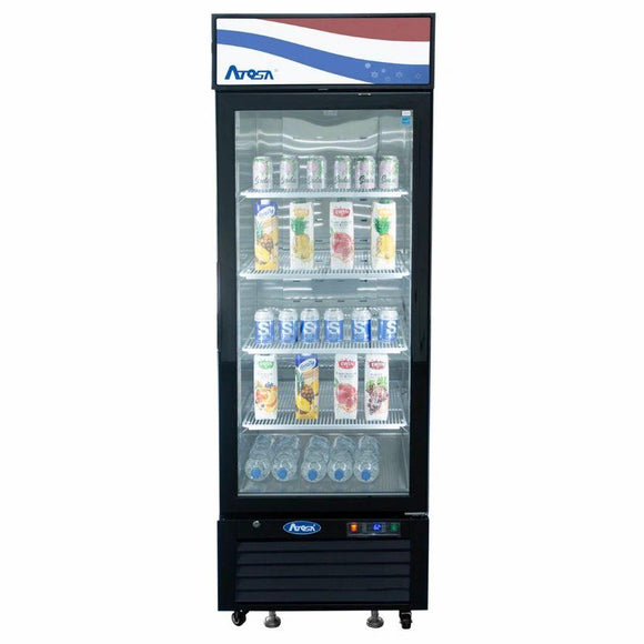 Atosa USA MCF8722GR Glass 1-Door Merchandiser Refrigerator 19.39 cu. ft.