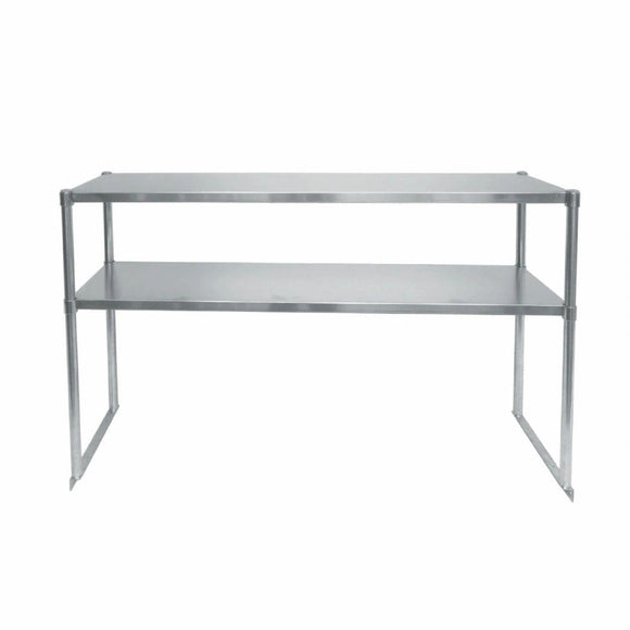 72-Inch Stainless Steel Sandwich Prep Table Over Shelf