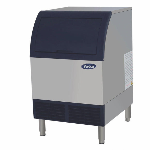 Atosa USA YR140-AP-161 142 lb Air-Cooled Self Contained Built in Storage Bin Cubed Ice Machine
