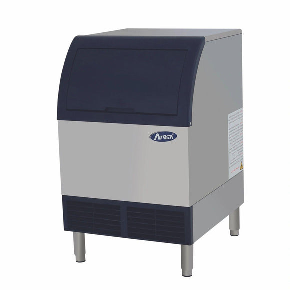 Atosa USA YR280-AP-161 283 lb Air-Cooled Self Contained Built in Storage Bin Cubed Ice Machine