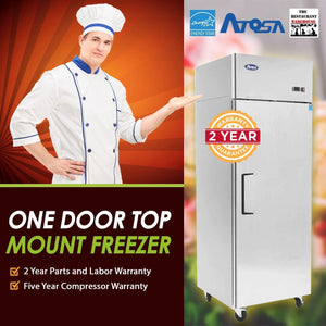 Atosa USA MBF8001 29-Inch One Door Upright Freezer - Energy Star Rated
