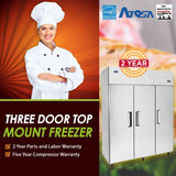 Atosa USA MBF8003 78-Inch Three Door Upright Freezer - Energy Star Rated