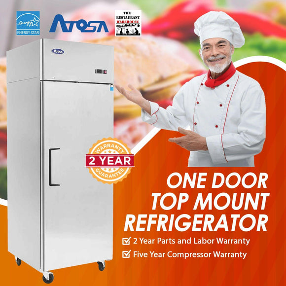 Atosa USA MBF8004 29-Inch One Door Upright Refrigerator - Energy Star Rated