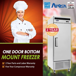 Atosa USA MBF8501 27-Inch One Door Upright Freezer - Energy Star Rated