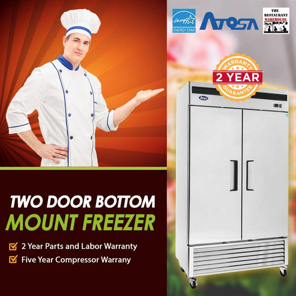 Atosa USA MBF8503 55-Inch Two Door Upright Freezer - Energy Star Rated