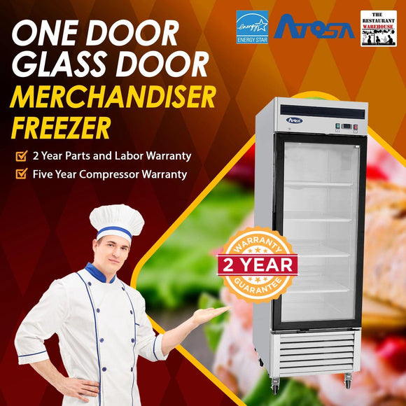 Atosa USA MCF8701 27-Inch Glass One Door Merchandiser Upright Freezer
