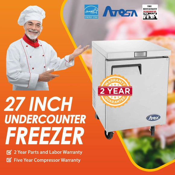 Atosa USA MGF8405 Undercounter 27-Inch One Door Freezer